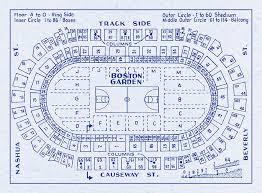Old Boston Garden Seating Chart Vintage Print Of Boston Garden Basketball Seating Chart On