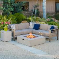 christopher knight home puerta grey outdoor wicker sofa set. Christopher Knight Home Cape Coral Outdoor 5-piece V Shaped Sofa Set With Fire Table (Grey Puerta Grey Wicker