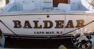 Gold Boat Lettering