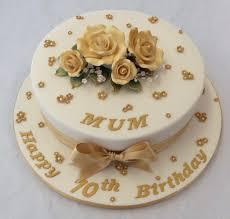 10 Round Gold 70th Birthday Cake Adult Birthday Cakes