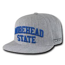 University Of Morehead State Eagles Ncaa Heather Gray Fitted