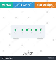 Ethernet Switch Design Ethernet Switch Icon Flat Color Design Stock Vector Royalty