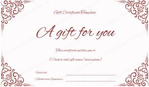 Gift Certificate Designer Red Gift Certificates Gift Certificate Templates