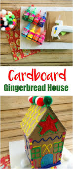 Make Your Own Cardboard Gingerbread House | Puffy paint ...