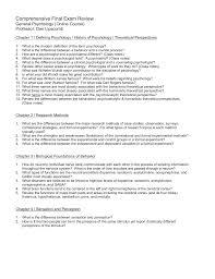 comprehensive final exam review