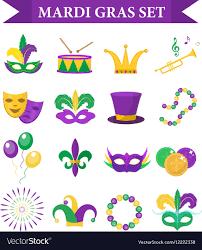 Mardi Gras Designs Mardi Gras Carnival Set Icons Design Element