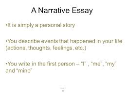 Unit   TT  A Narrative Essay It is simply a personal story You     SlidePlayer INTRODUCTION   BODY   CONCLUSION Parts of a Narrative Essay     Give the main idea