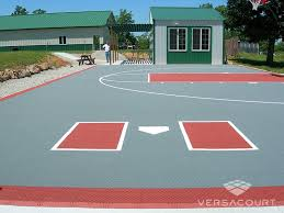 backyard ideas basketball court. half basketball court with batteru0027s box backyard ideas s
