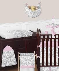 pink gray elizabeth crib bedding set by sweet jojo designs 9 piece