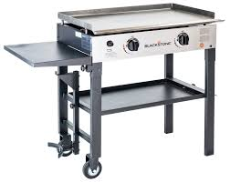 stove with griddle. Blackstone 28\u201d Two-Burner Stove With Griddle