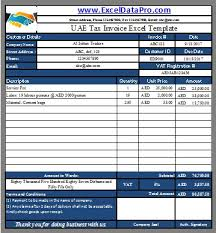 Download Uae Vat Tax Invoice Excel Template As Per The