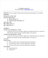 Standard Format Resume Interesting 40 Sample Resume Objectives PDF DOC Free Premium Templates