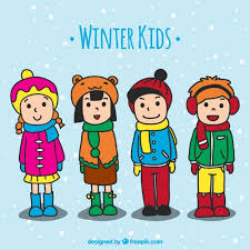 Image result for clipart kids winter clothes