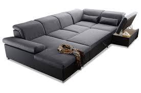 Sofa Couch Blackredwhite Wohnlandschaft Bruce Mit