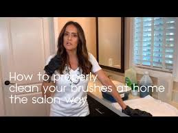 how to clean your hair brushes at home