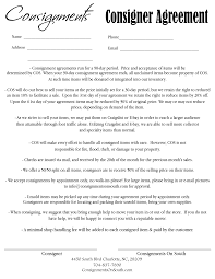 Sample Consignment Agreement Template 24 Best Images Of Consignment Agreement Form Template Sample Best 15