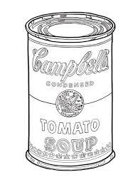 Similiar Warhol Campbells Soup Coloring Page Keywords