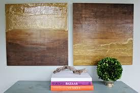 diy wall art ombre diptych made from stained wood