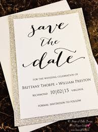 Save The Date For Wedding Silver Glitter Wedding Save The Dates 25 Glitter Save The Dates Gold Silver Rose Gold Red Burgundy Green Purple Navy Blue Tiffany Blue