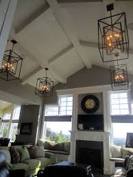 hang chandelier angled ceiling light ideas
