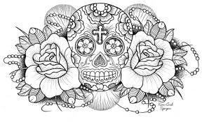 Plush Sugar Skull Coloring Pages For Adults Page 9 Coloring
