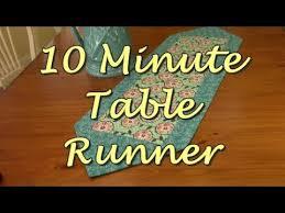 10 Minute Table Runner Pattern Interesting 48 Minute Table Runner YouTube