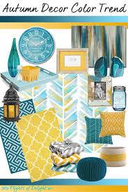 autumn decor color trend mood board teal mustard via flightsofdelightcom chic mint teal office
