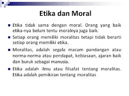 Moral adalah sikap atau perilaku yang sesuai dengan macam norma yang ditetapkan dan dianggap namun, yang perlu kita tekankan adalah tindakan moral bertujuan untuk kepentingan orang banyak. Pengertian Moral Serta Definisi Moral Menurut Para Ahli Definisi Dan Pengertian Menurut Ahli