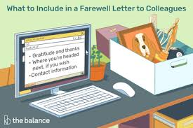 goodbye email for coworkers sle
