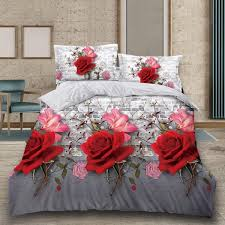 flower bedding set with pillows cases