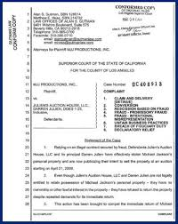 Court Document Templates Auction Superior Court California Lawsuit Filing Cover