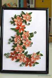 Paper Quilling Flower Frames Flower Quilling Art Framed Flower Quilling Picture Wall Art