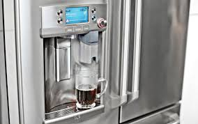 refrigerator with keurig coffee maker. You Can Complain About The Quality Of Coffee They Produce All Want But Now That Those Podbased Keurig Hot Beverage Machines Come Built Right In To Inside Refrigerator With Maker Gizmodo