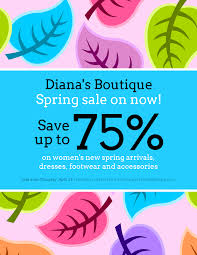 Colorful Spring Clothing Sales Flyer Idea Venngage Flyer Examples