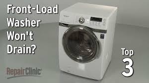 How To Clean Washing Machine Drain Washer Wont Drain Washing Machine Troubleshooting Youtube
