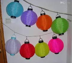 10 LED Solar Power White Or Multi Coloured Chinese Lantern Garden Chinese Lantern Solar Lights
