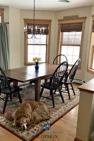 benjamin moore standish white dining room country style wood trim wood floor