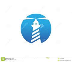Light Beam Logo Light House Logo Template Stock Vector Illustration Of