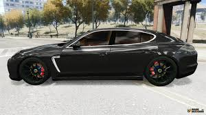 black porsche panamera turbo. porsche panamera turbo 2010 black edition for gta 4 left view o