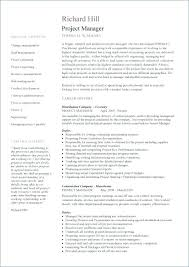 Construction Resume Template Stunning Project Management Resume Template It Manager Construction Cv