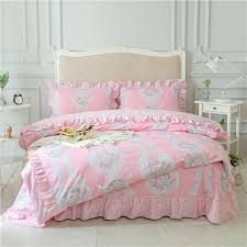 pink white and turquoise tribal and flower print bohemian shabby chic ruffle elegant girls full queen size bedding sets