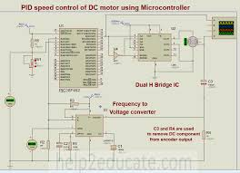 pid speed control of dc motor using microcontroller schematic for pid speed control of dc motor using microcontroller