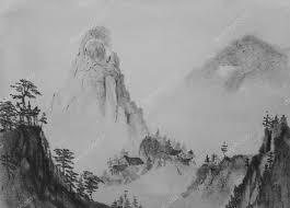 中国絵画山 ストック写真 Nikolai2 100967456
