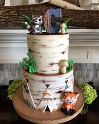 Woodland Baby Shower Cake Cake By Lori Mahoney Loris Custom