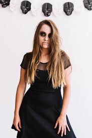 age in black dress with vire makeup free photo