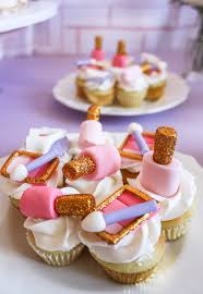 nail polish makeup palette cupcakes from a beauty boutique garden party on kara s party ideas