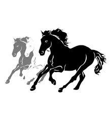 three running horses silhouette. Vector Silhouettes Of Three Running Horses Throughout Silhouette