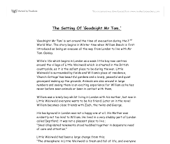 the setting of goodnight mr tom gcse english marked by  document image preview