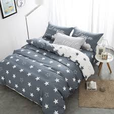 home textile black gray star bedding set100 cotton elephant pineapple bedding queen duvet cover bed