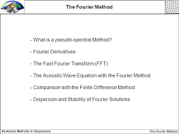 what is a pseudo spectral method fourier derivatives